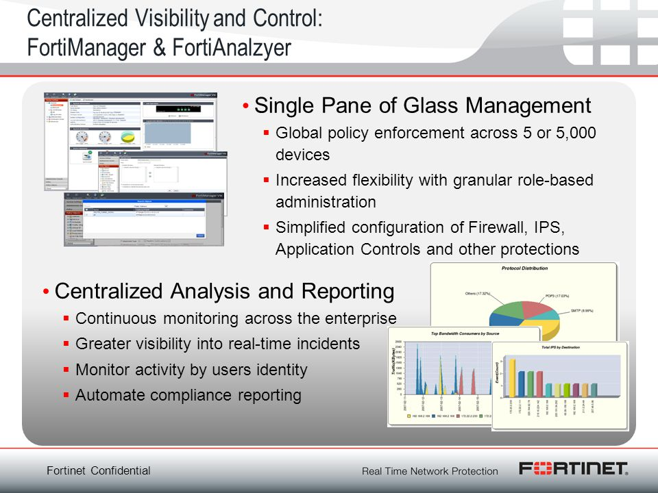 Centralized Visibility and Control: FortiManager & FortiAnalzyer