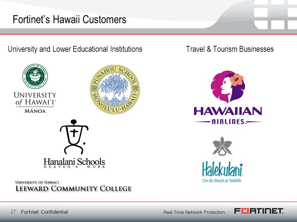 Fortinet's Hawaii Customers
