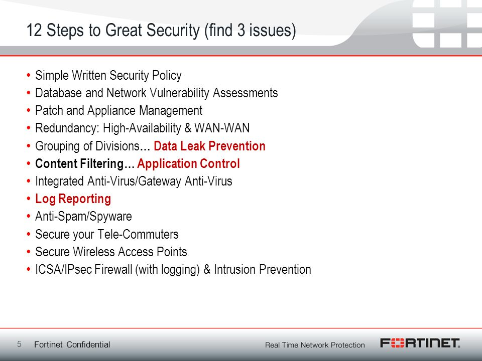 12 Steps to Great Security (find 3 issues)