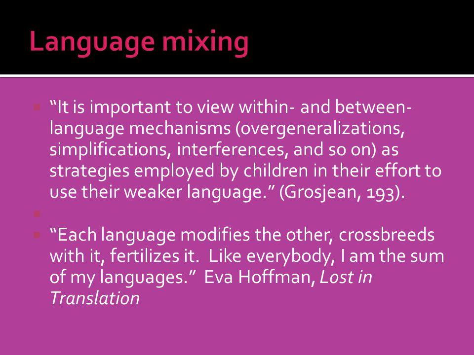 Language mixing