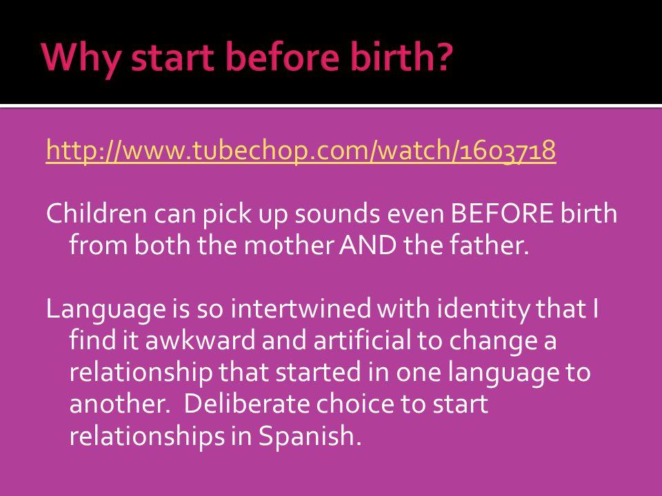 Why start before birth