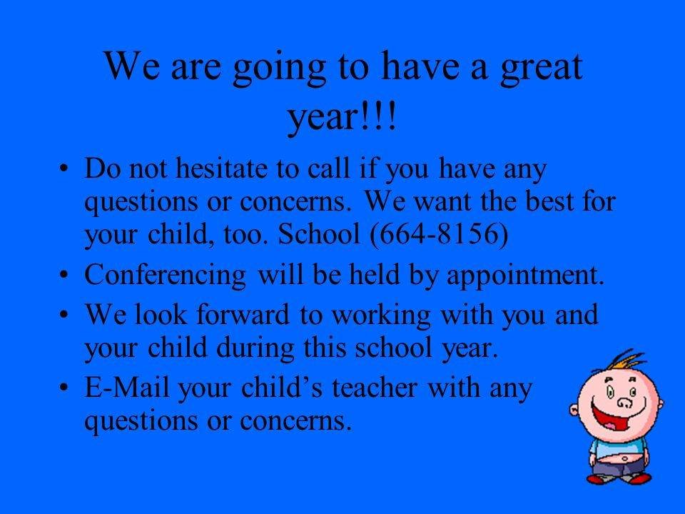 We are going to have a great year!!!