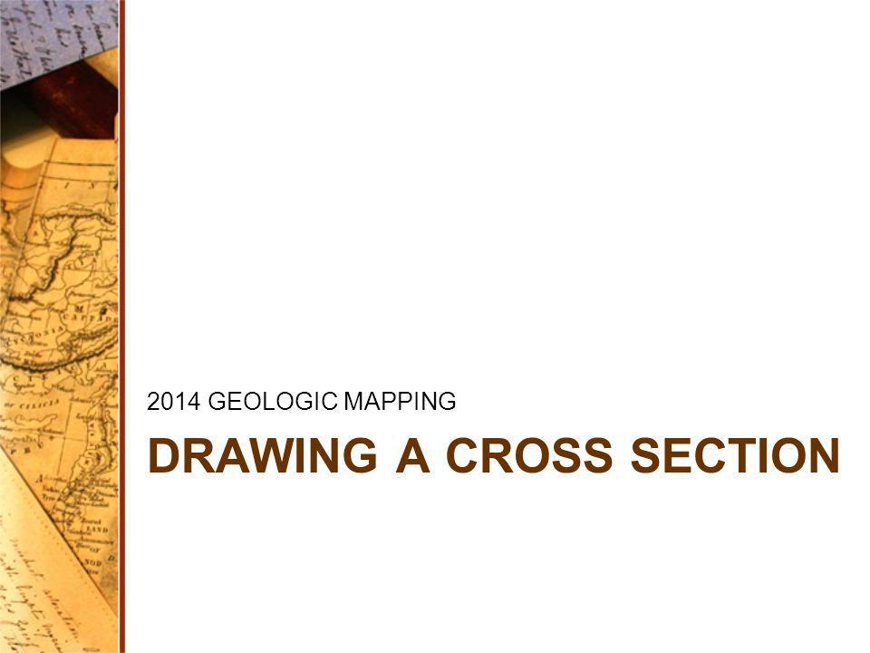 DRAWING A CROSS SECTION