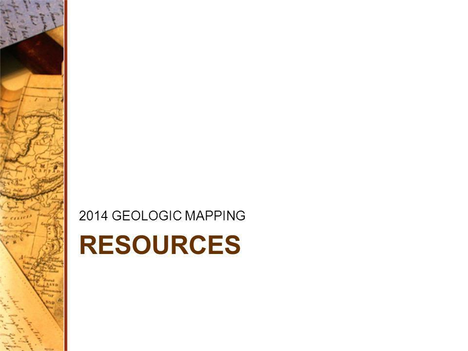 2014 GEOLOGIC MAPPING RESOURCES