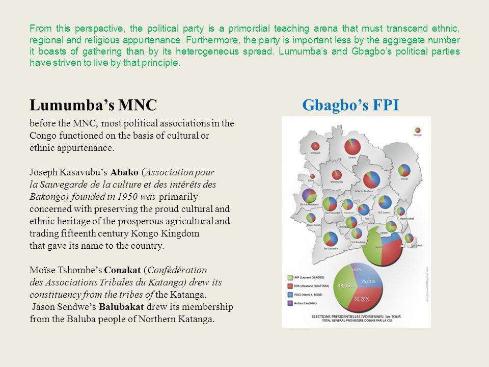 Lumumba's MNC Gbagbo's FPI