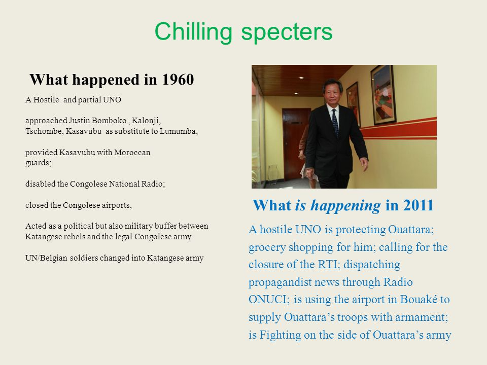 Chilling specters What happened in 1960 What is happening in 2011