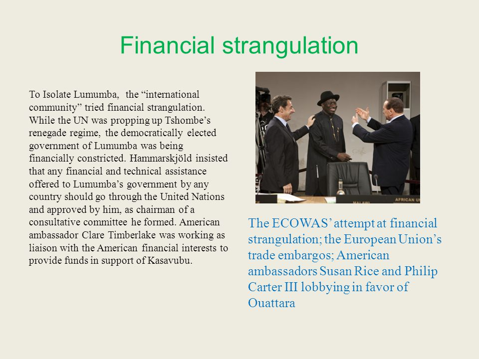 Financial strangulation