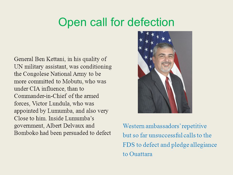 Open call for defection