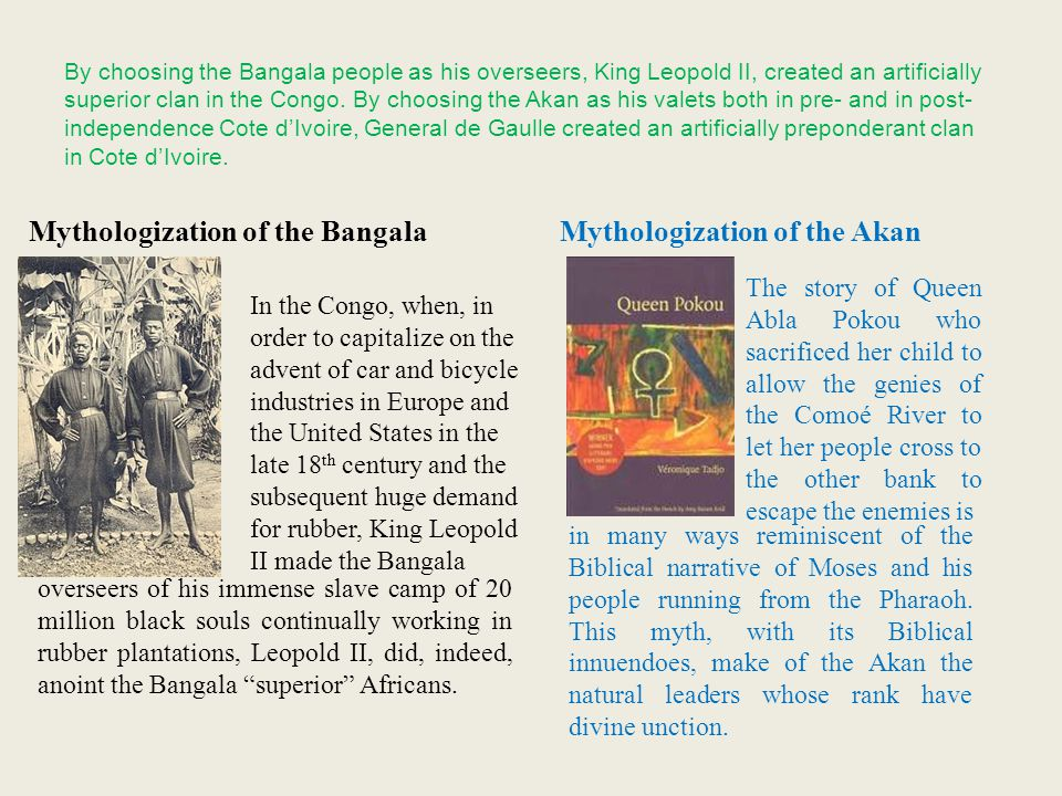 Mythologization of the Bangala Mythologization of the Akan