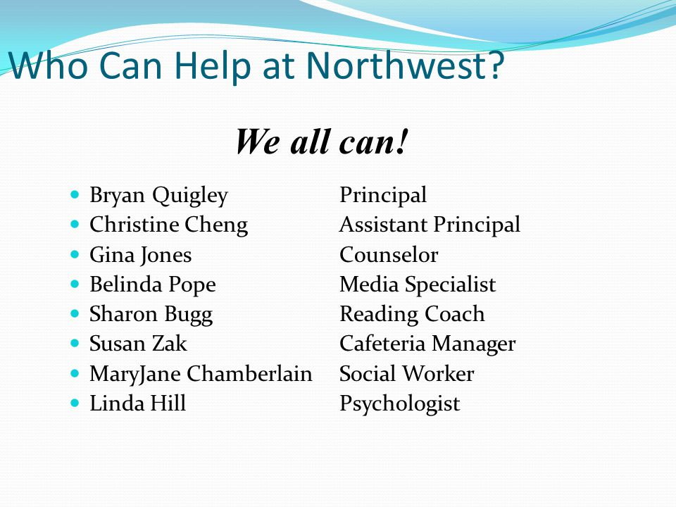 Who Can Help at Northwest