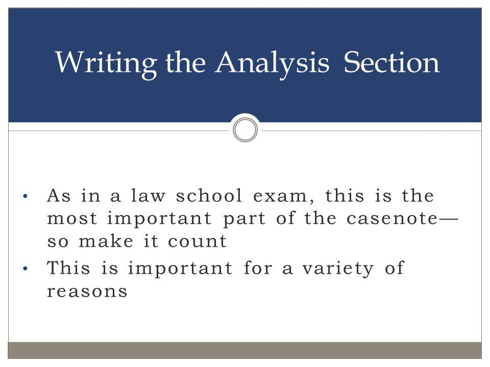 Writing the Analysis Section