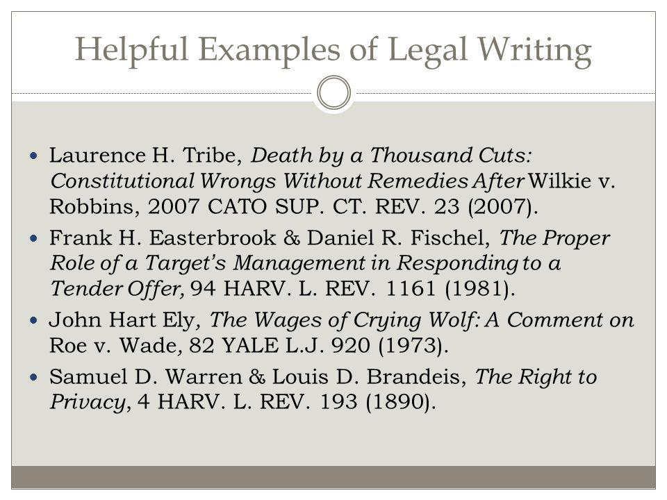 Helpful Examples of Legal Writing