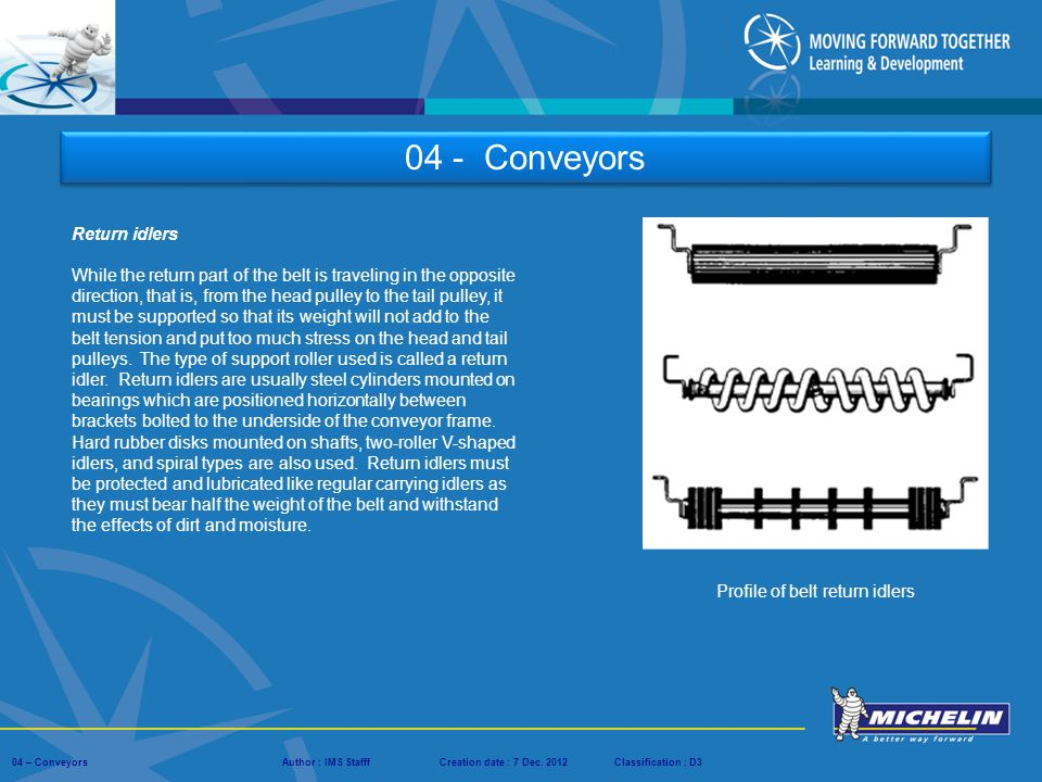 04 - Conveyors Return idlers