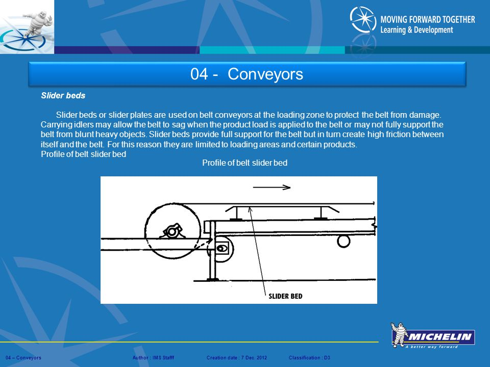 04 - Conveyors Slider beds