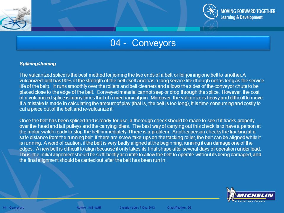 04 - Conveyors Splicing/Joining