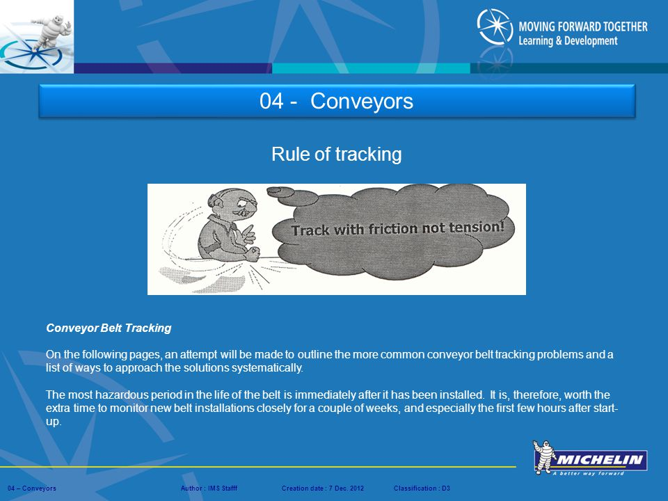 04 - Conveyors Rule of tracking Conveyor Belt Tracking