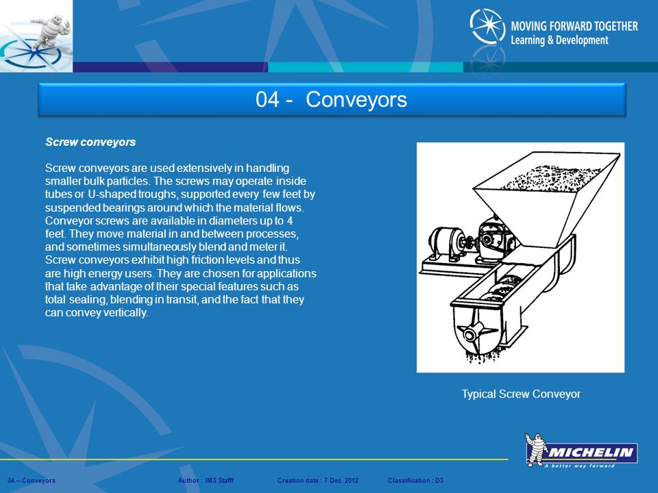 Typical Screw Conveyor
