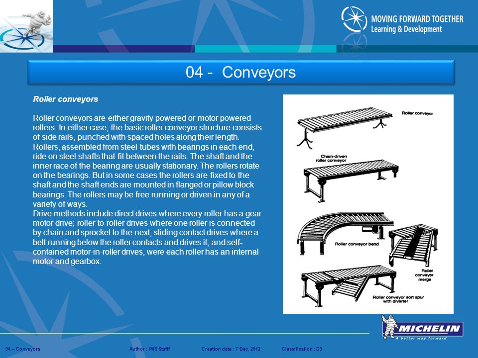 04 - Conveyors Roller conveyors