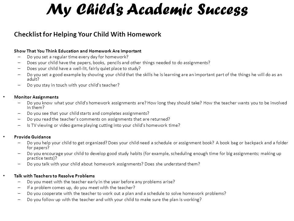 My Child's Academic Success