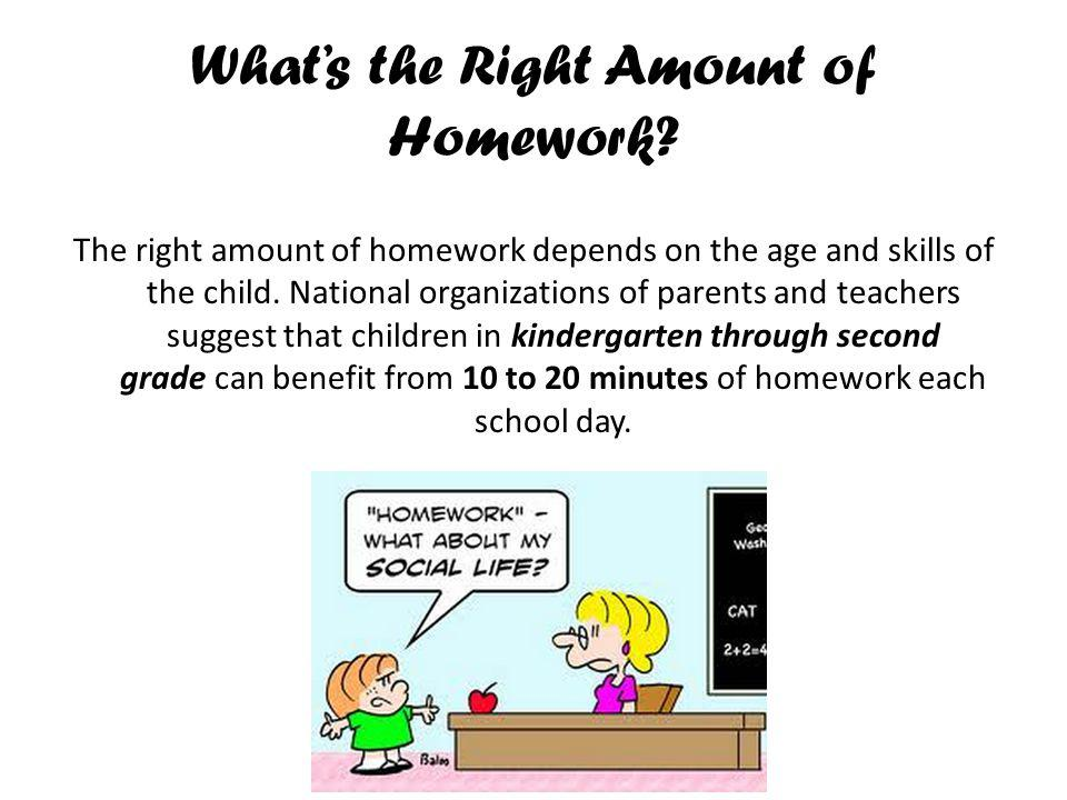 What's the Right Amount of Homework