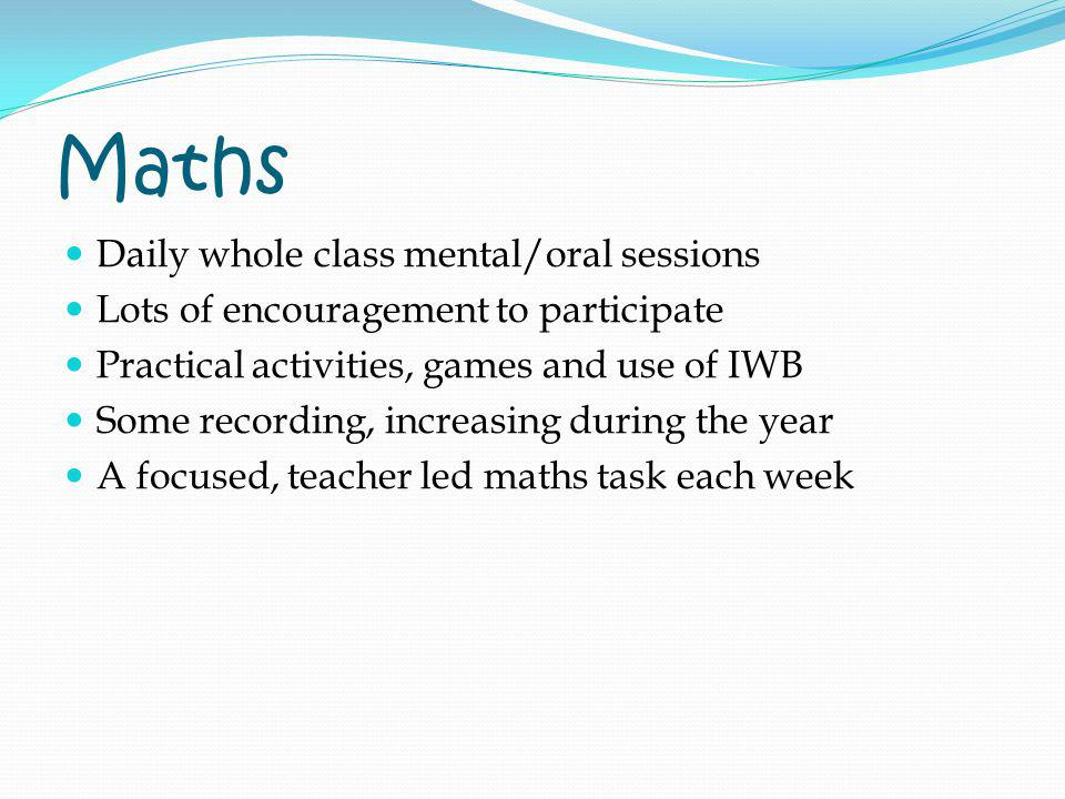 Maths Daily whole class mental/oral sessions