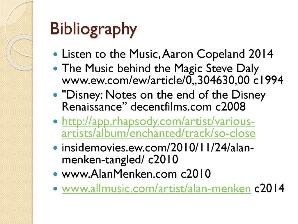 The Musical Wonders of Alan Menken - ppt download