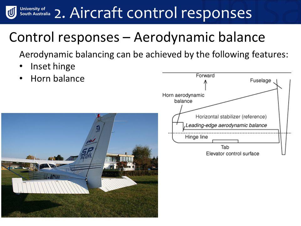2. Aircraft control responses