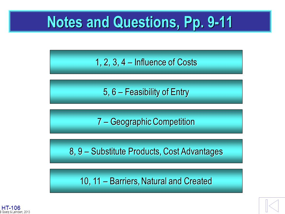 Notes and Questions, Pp. 9-11