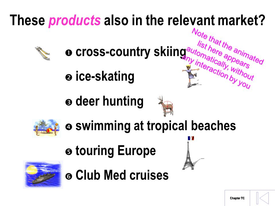 These products also in the relevant market