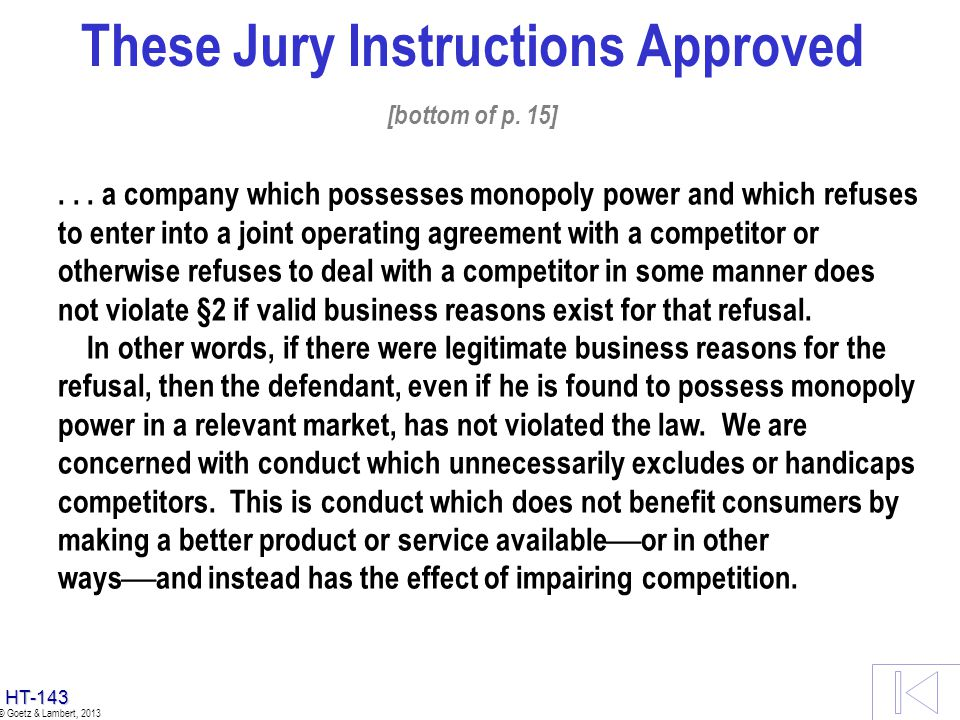 These Jury Instructions Approved