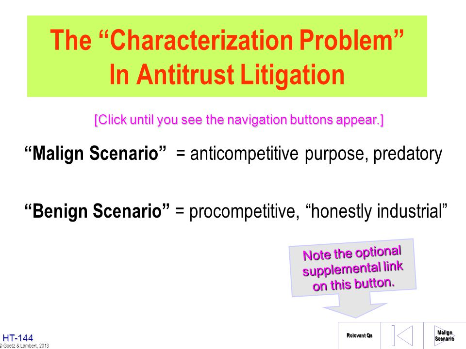 The Characterization Problem In Antitrust Litigation