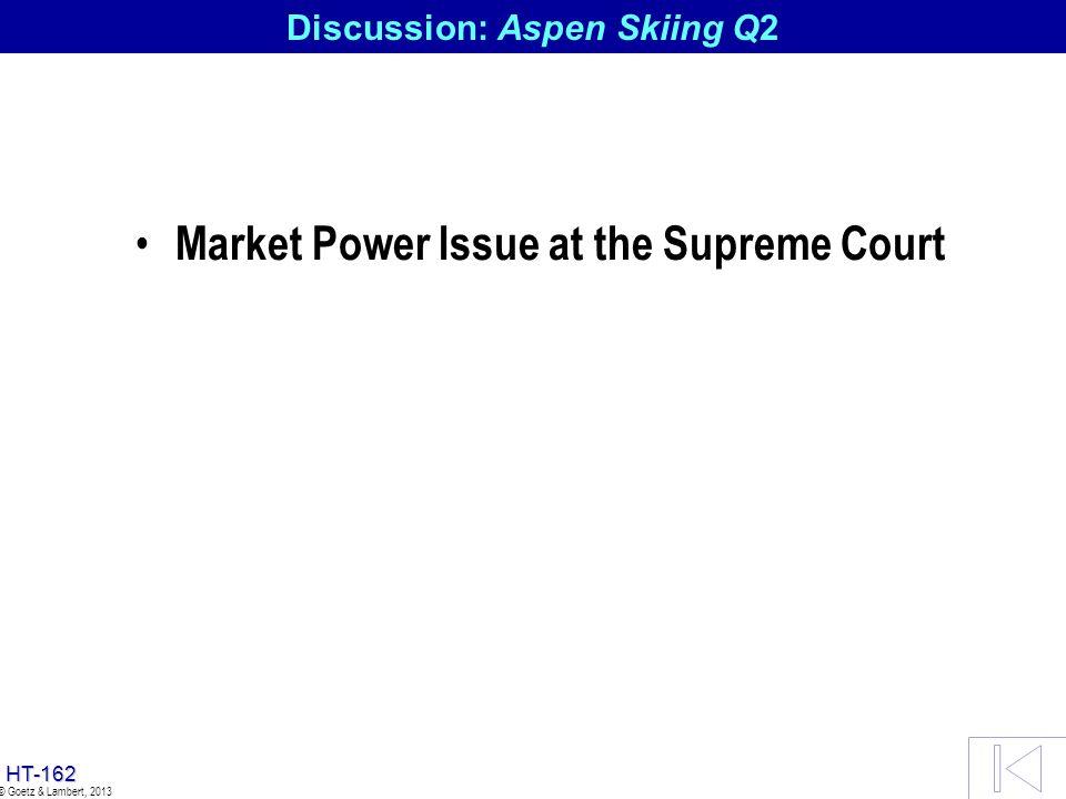 Discussion: Aspen Skiing Q2