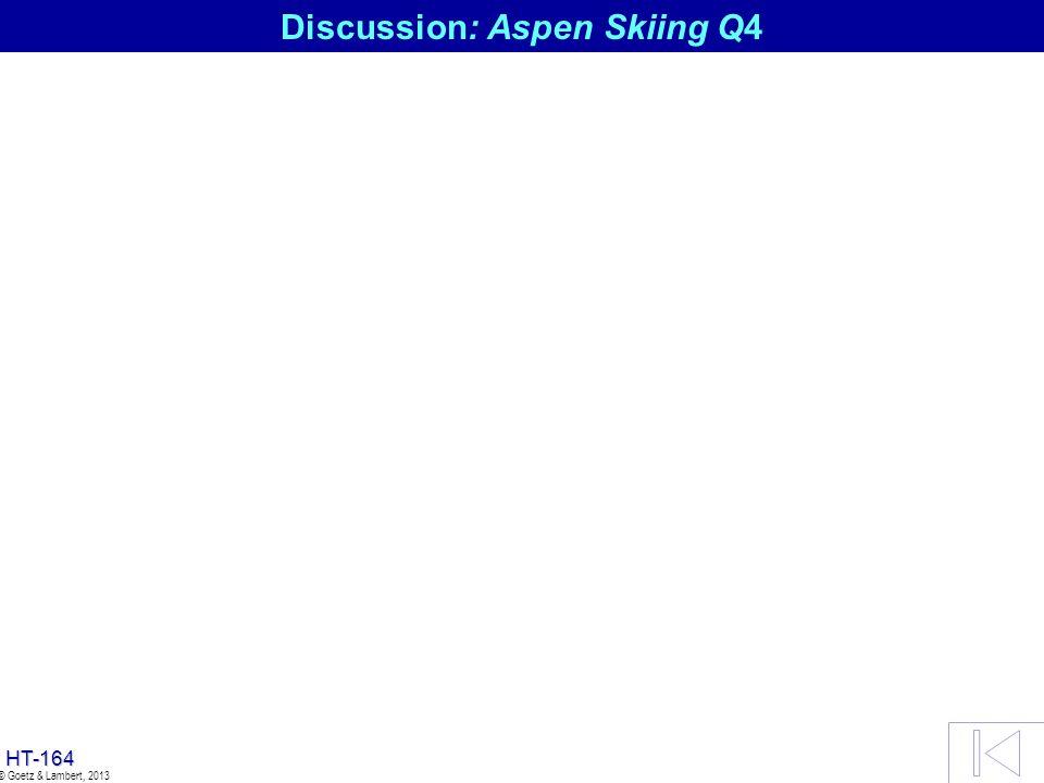 Discussion: Aspen Skiing Q4