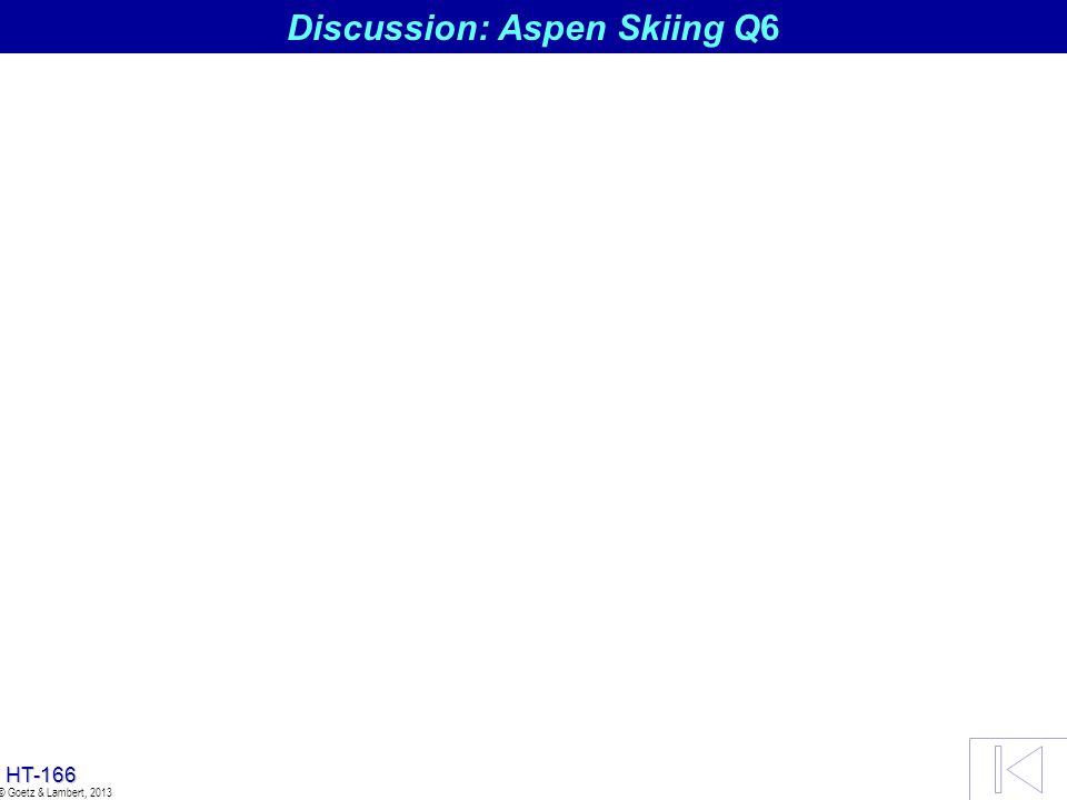 Discussion: Aspen Skiing Q6