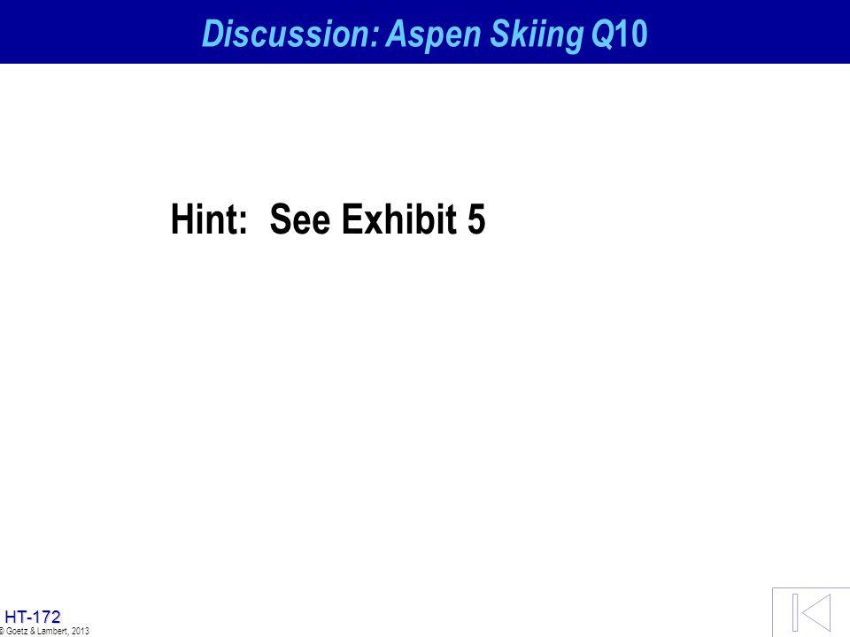 Discussion: Aspen Skiing Q10