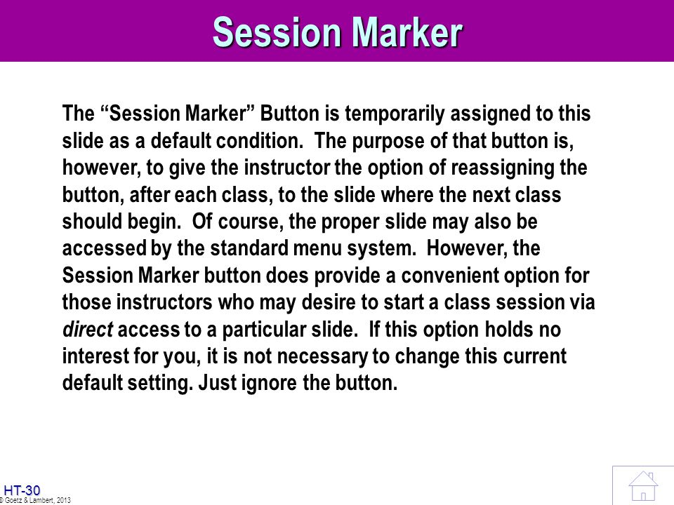 Session Marker