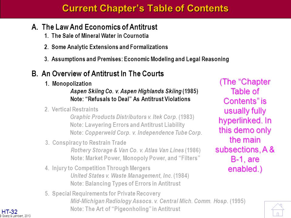 Current Chapter's Table of Contents