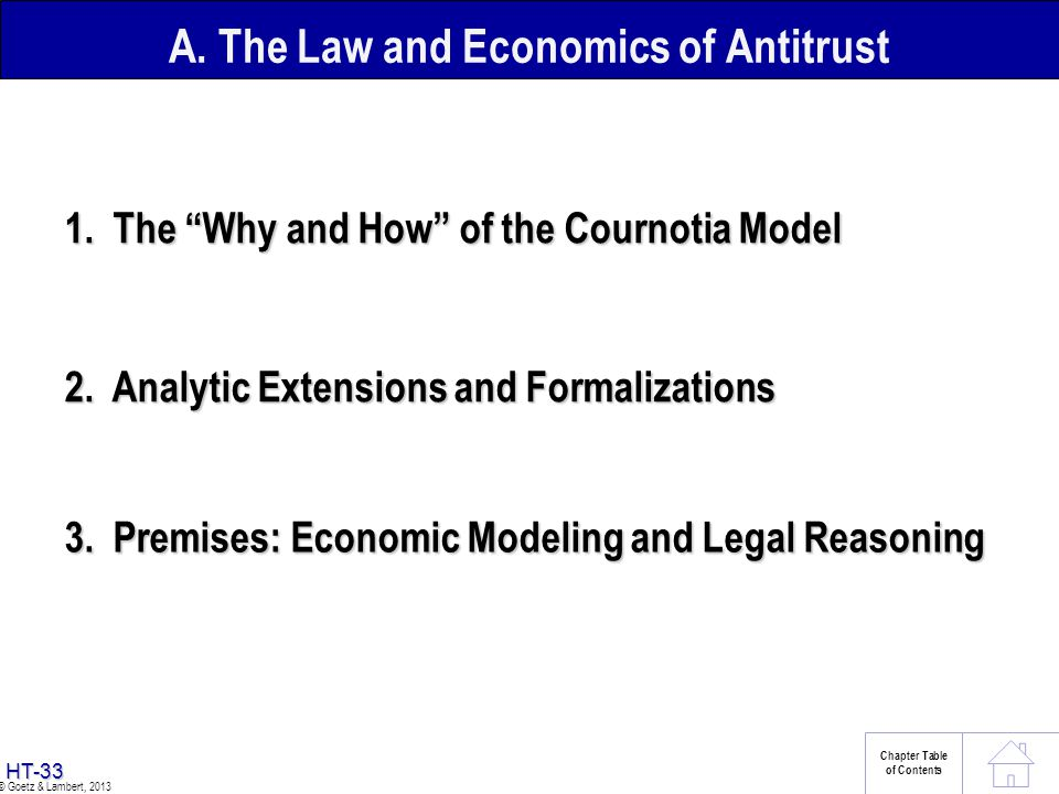 A. The Law and Economics of Antitrust