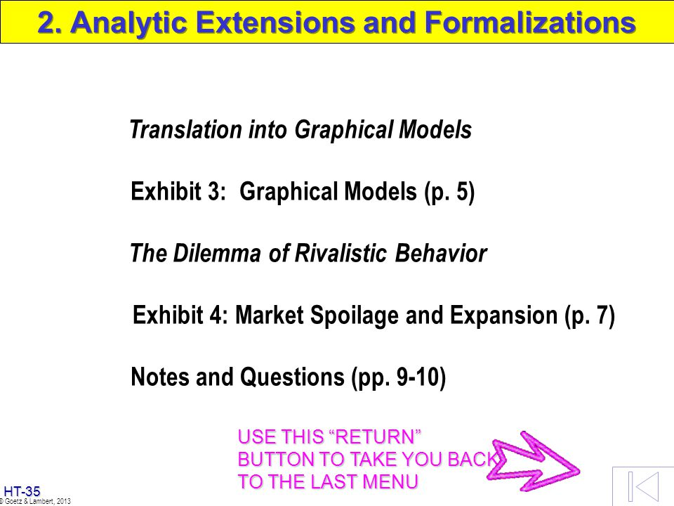 2. Analytic Extensions and Formalizations