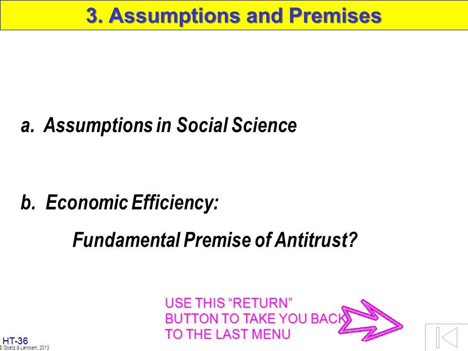 3. Assumptions and Premises