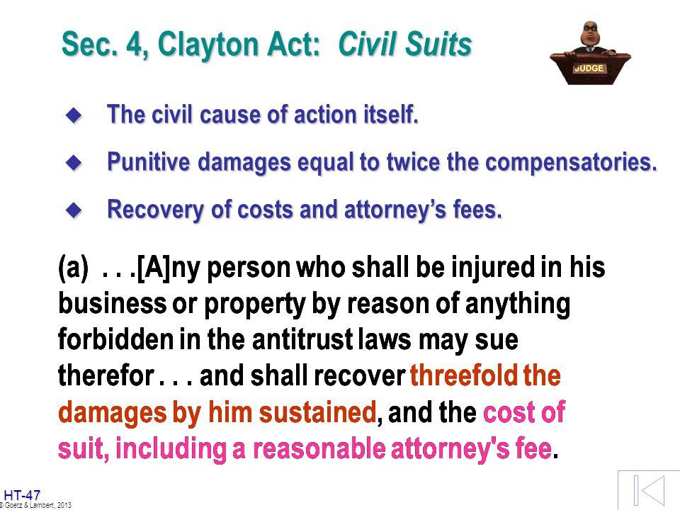Sec. 4, Clayton Act: Civil Suits