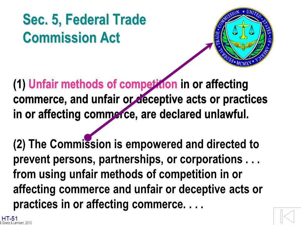 Sec. 5, Federal Trade Commission Act