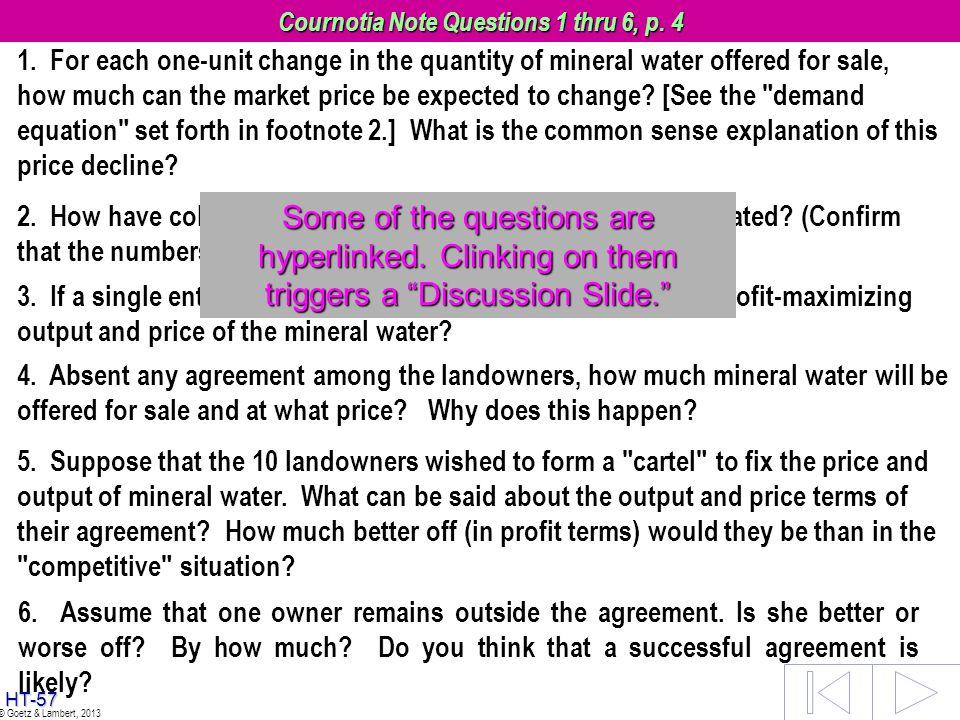 Cournotia Note Questions 1 thru 6, p. 4