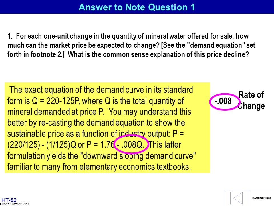 Answer to Note Question 1