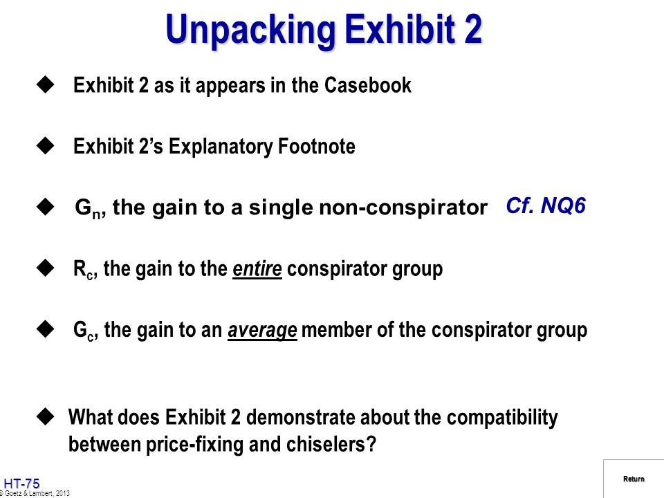 Unpacking Exhibit 2 Exhibit 2 as it appears in the Casebook