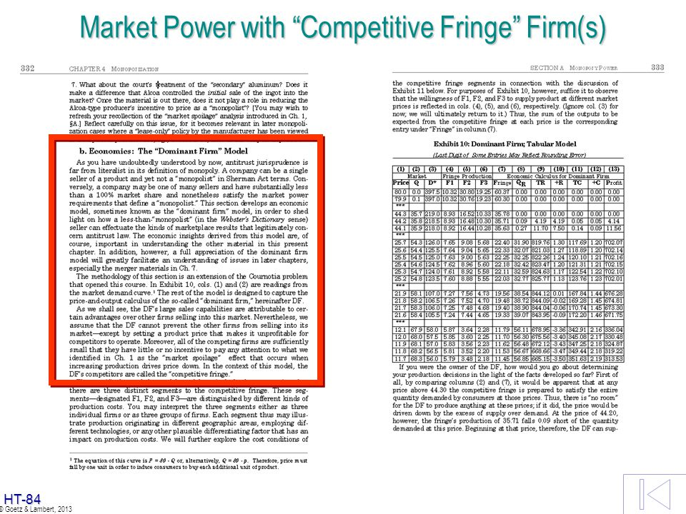 Market Power with Competitive Fringe Firm(s)