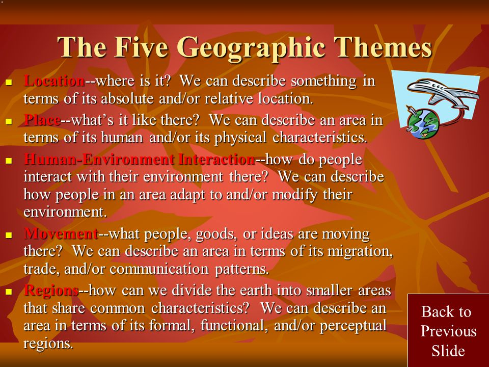 The Five Geographic Themes