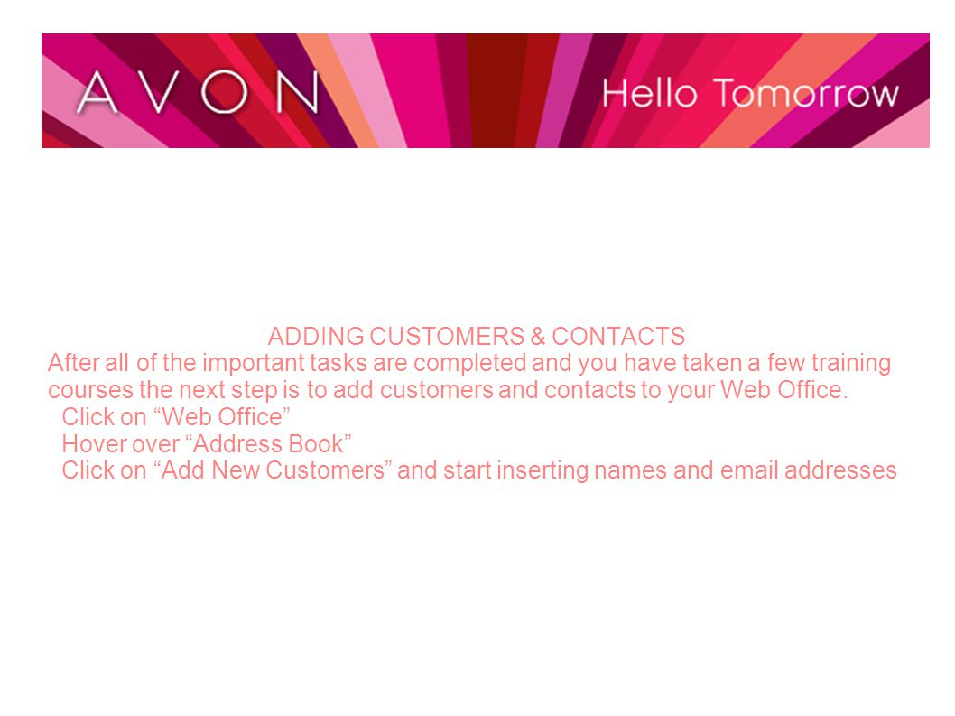 ADDING CUSTOMERS & CONTACTS