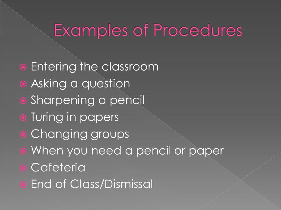 Examples of Procedures