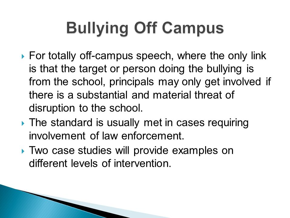 Bullying Off Campus